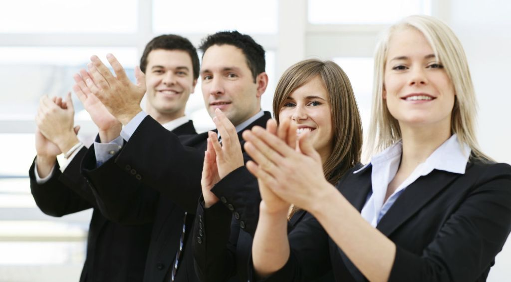 successful business meeting applause
